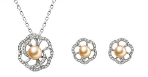 soEnvy Enchanted Daisy Crystal & Pearl Set