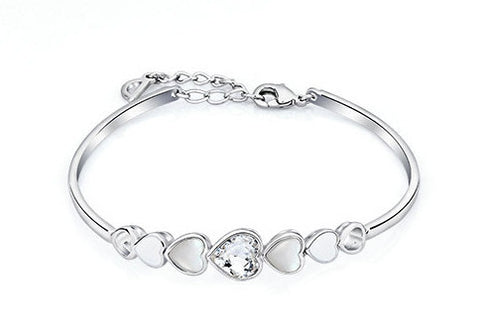 soEnvy Gradient Crystal Heart Bangle