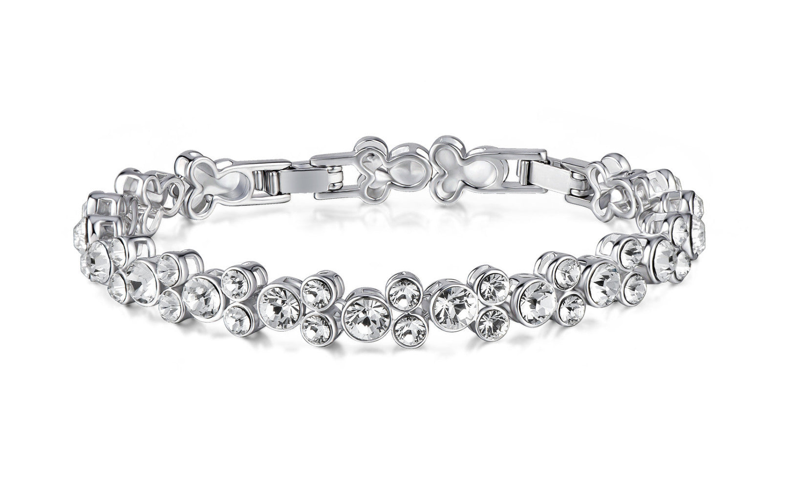 soEnvy Luxurious Cluster Bracelet with Clear Crystals