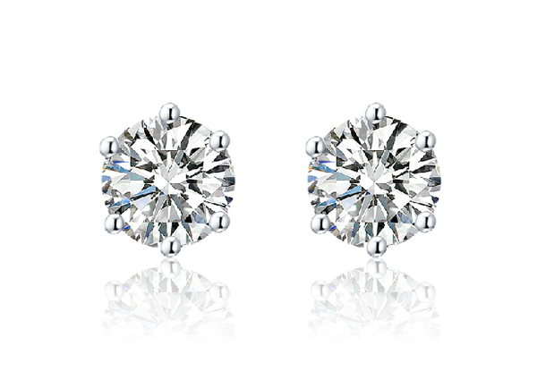 soEnvy Sterling Silver Zirconia Stud Earrings