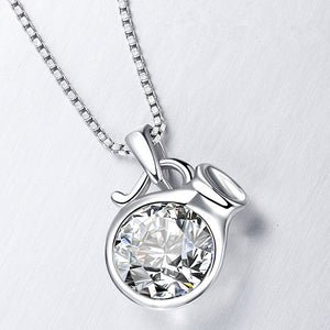 soEnvy Sterling Silver Zodiac Star Sign Necklace Aquarius