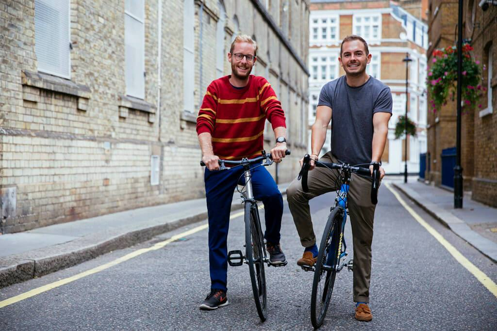mark and tom from Beeline on their bike