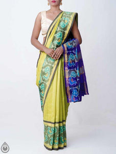 Designer Yellow Color Printed Design Heavy Linen Cotton Saree - Bollywood Replica Saree