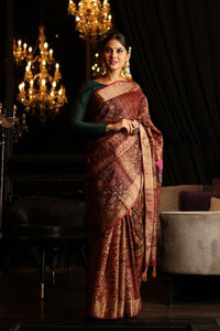Attractive Mustar Color Printed Design Heavy Linen Cotton Saree. (ms1009) - Bollywood Replica Saree