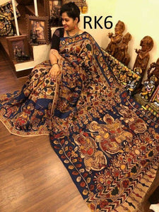Designer Multi Color Linen Digital Printed Saree - Bollywood Replica Saree