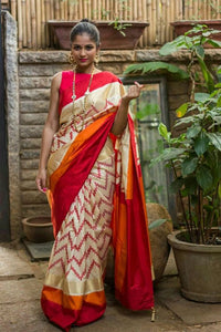 Attractive OffWhite Color With Multi Linening Printed Design Heavy Linen Cotton Saree.c 1250 - Bollywood Replica Saree