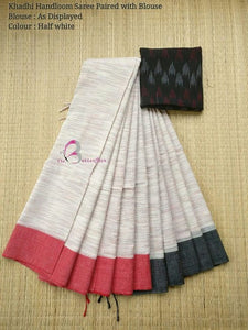Exclusive White Color Printed Soft Linen Saree. - Bollywood Replica Saree