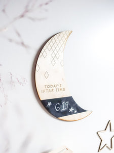 Iftar Time Moon Decor Countdown Board