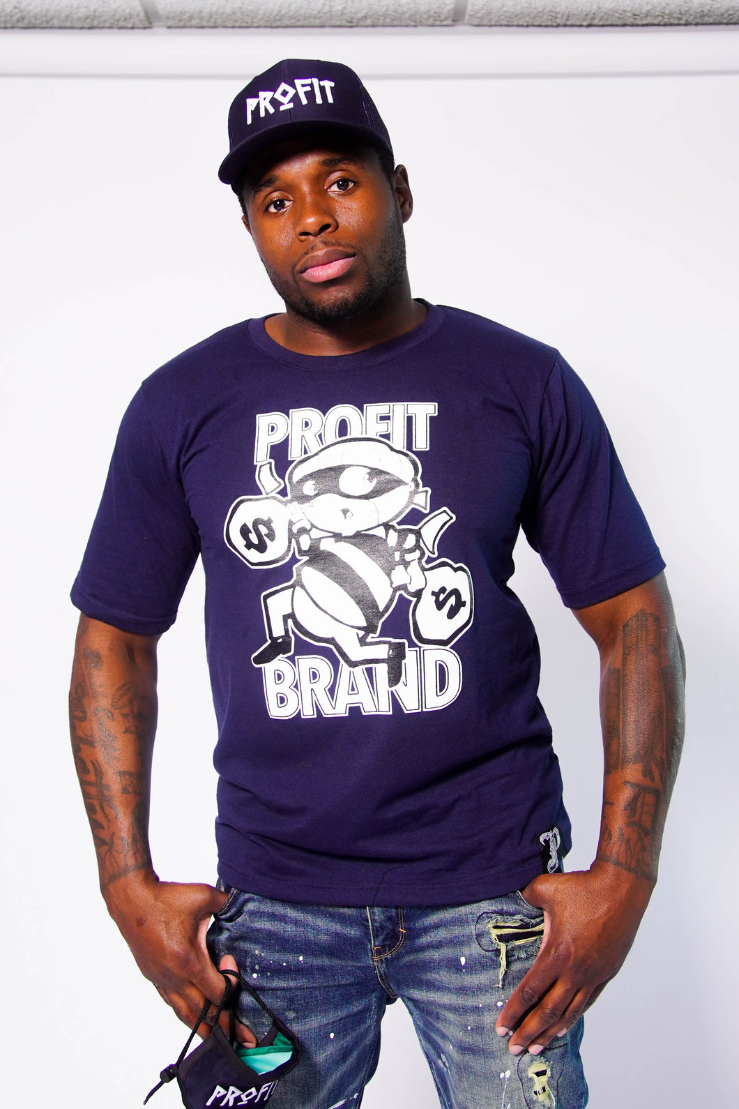 Profit Navy Blue Robber Tee