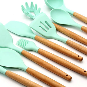 Conjunto Silicone Cooking Utensils