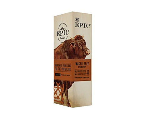 EPIC Wagyu Beef Steak Strips, Grass-Fed, 10 Count Box