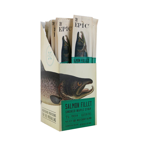 EPIC Smoked Salmon Strips, Wild Caught, 20 Count Box