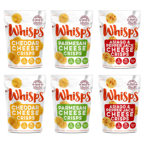 Whisps Cheese Crisps 6 Pack Assortment