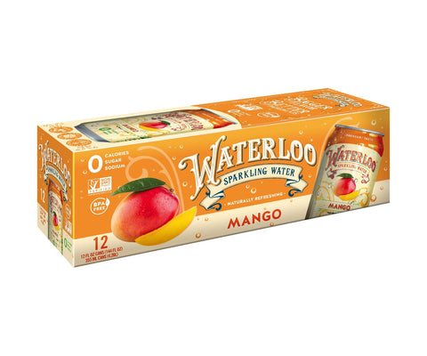 Waterloo Sparkling Water Mango 12oz Cans
