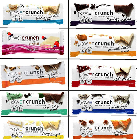 Power Crunch Original Protein Bars, Variety Pack. 20 Bars