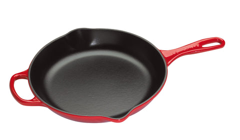 Le Creuset 10-1/4-Inch, Enameled Cast Iron Signature Round Skillet-Cherry