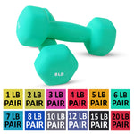 Neoprene Dumbbell Pair- 6 Pounds
