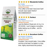 Peak Performance High Altitude Organic Coffee. Ground Coffee 12oz Bag