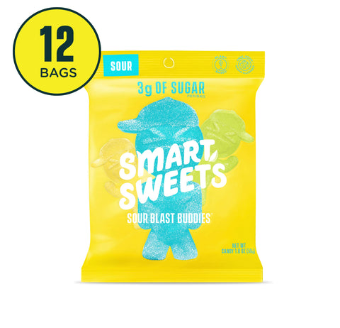SmartSweets Sour Blast Buddies 1.8 Ounce (Pack of 12)
