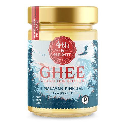 Himalayan Pink Salt Grass-Fed Ghee Butter by 4th & Heart, 9 Ounce