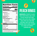 SmartSweets Peach Rings 1.8 Oz Bags (Box Of 12)
