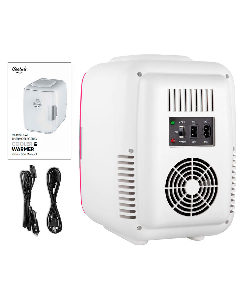 Classic 4 Liter Small Hot Pink Mini Fridge Power Cords