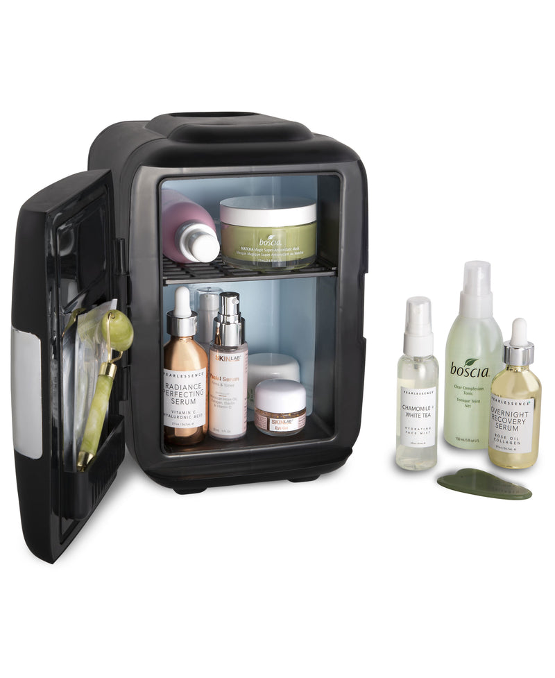Classic 4 Liter Small Black Skincare Mini Fridge