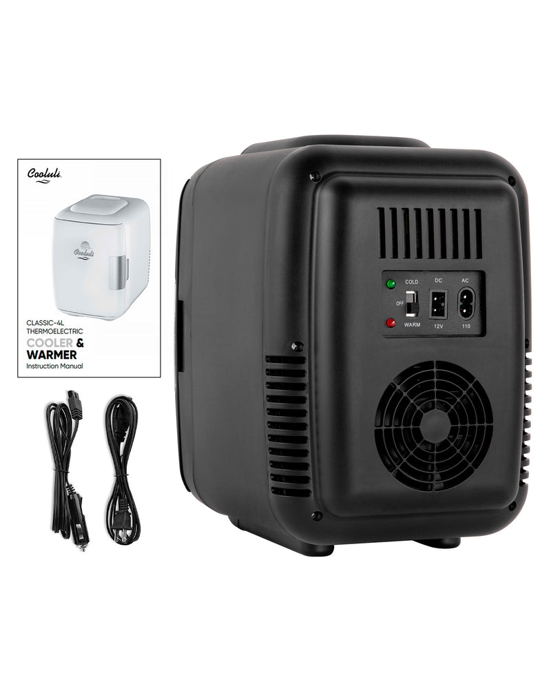 Classic 4 Liter Small Black Mini Fridge Power Cords