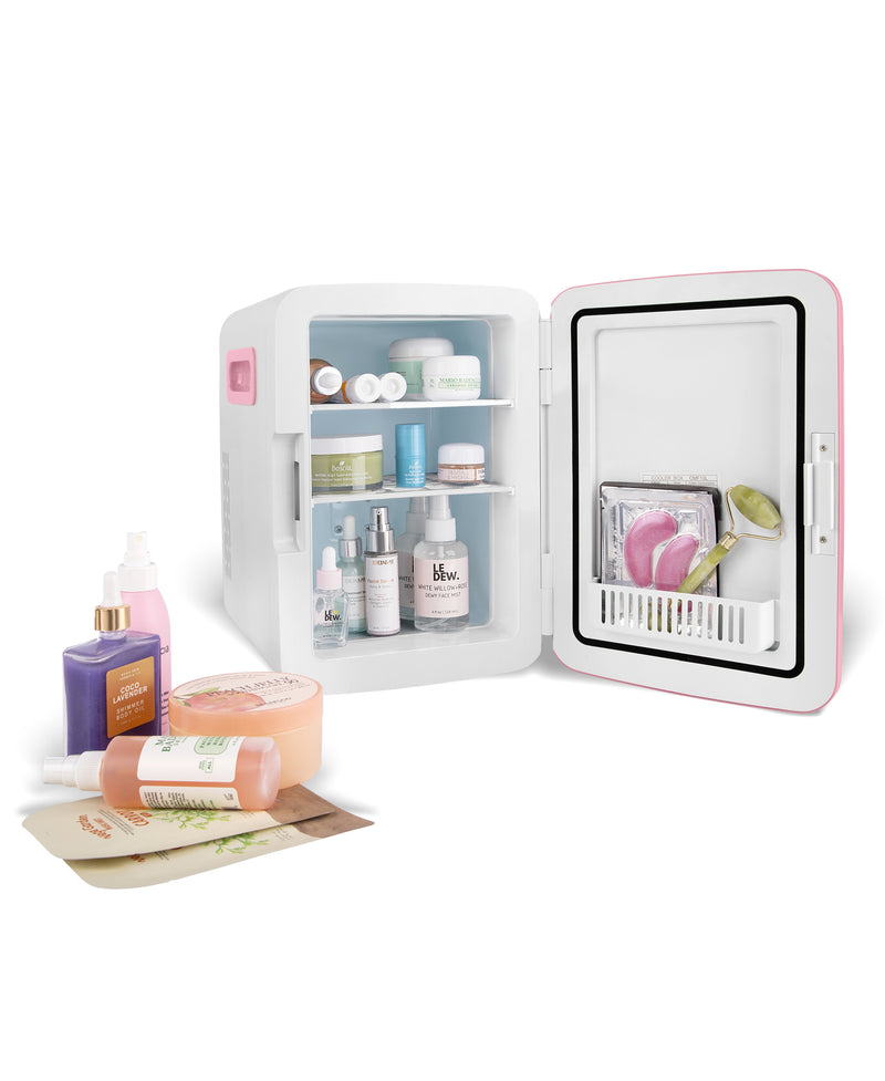 cooluli classic 10 liter pink skincare mini fridge