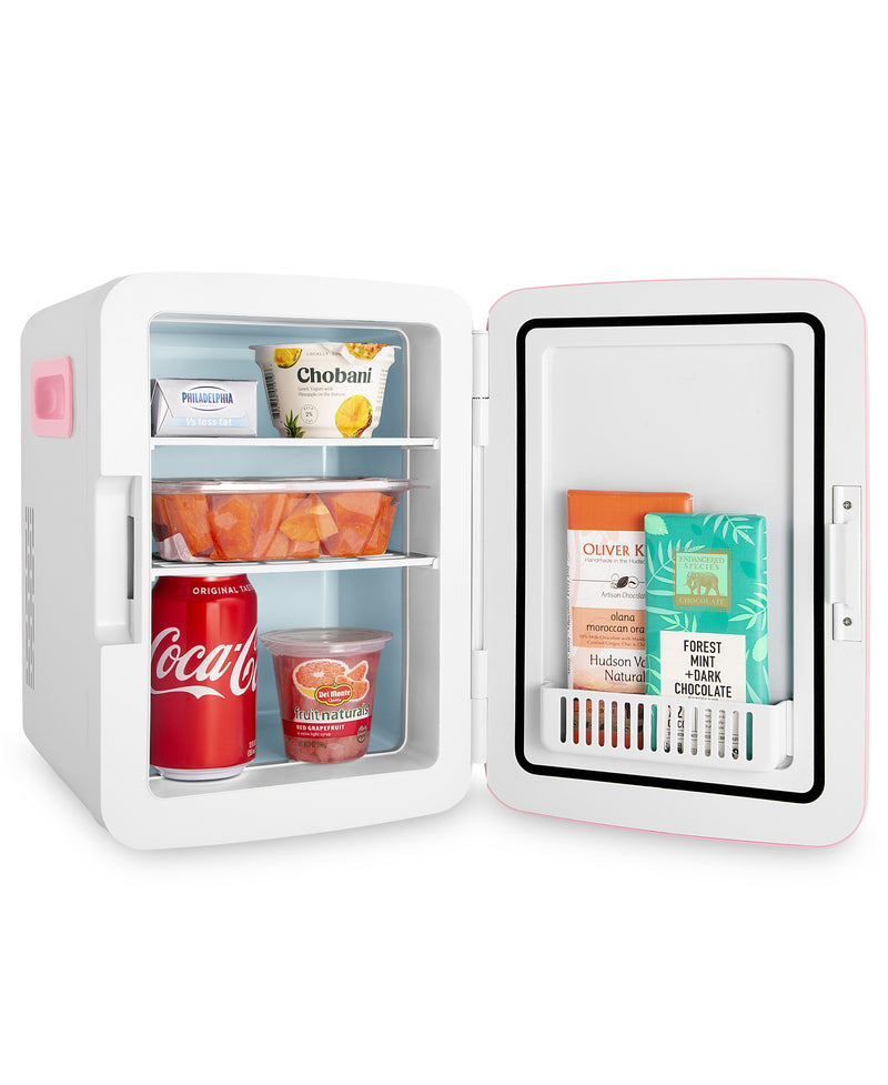 cooluli classic 10 liter pink mini fridge for food