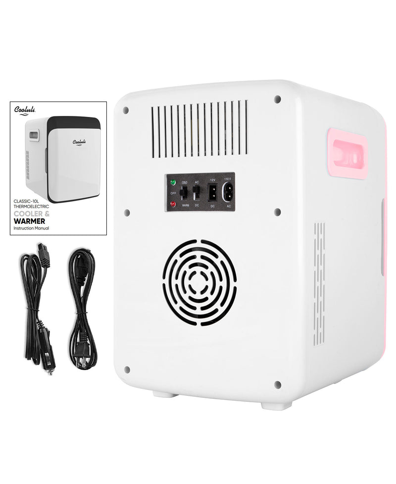 cooluli classic 10 liter pink mini fridge power cords