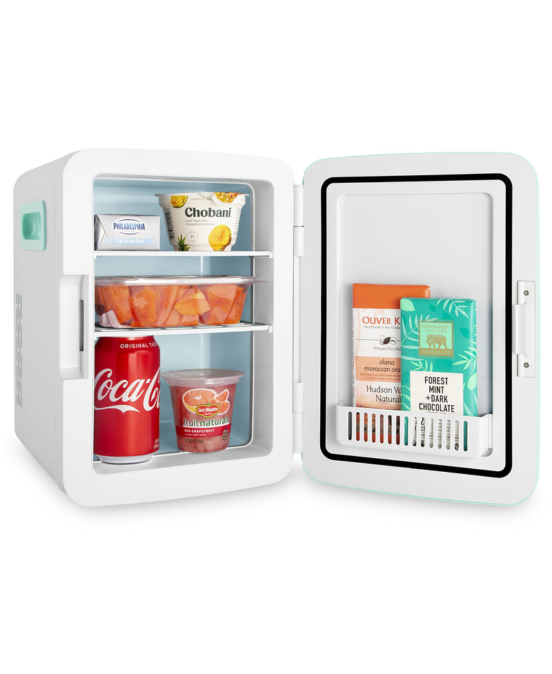 cooluli classic 10 liter teal mini fridge for food