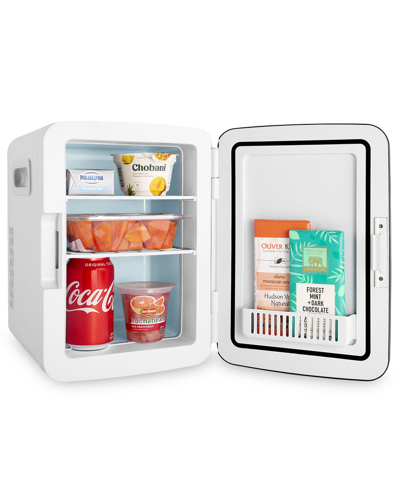 cooluli classic 10 liter white mini fridge for food