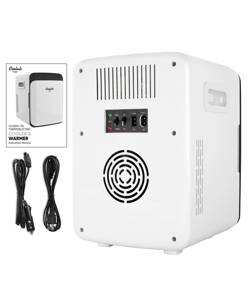 cooluli classic 10 liter white mini fridge power cords