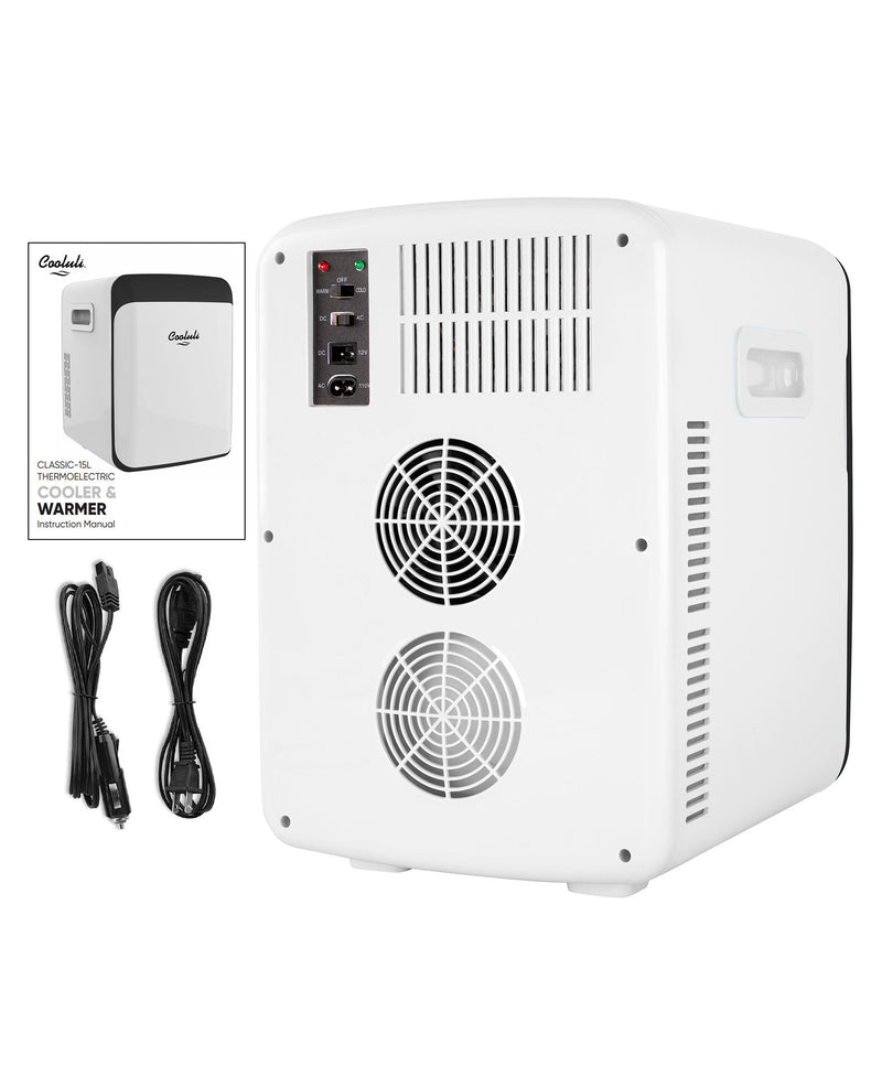cooluli classic 15 liter white portable mini fridge power cords