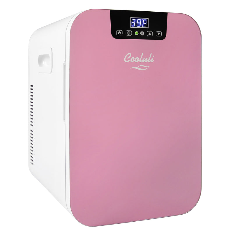 Concord 20 Liter Large Pink Mini Fridge Temperature Control