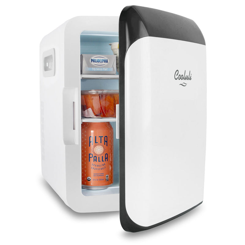 cooluli classic 10 liter white mini fridge door
