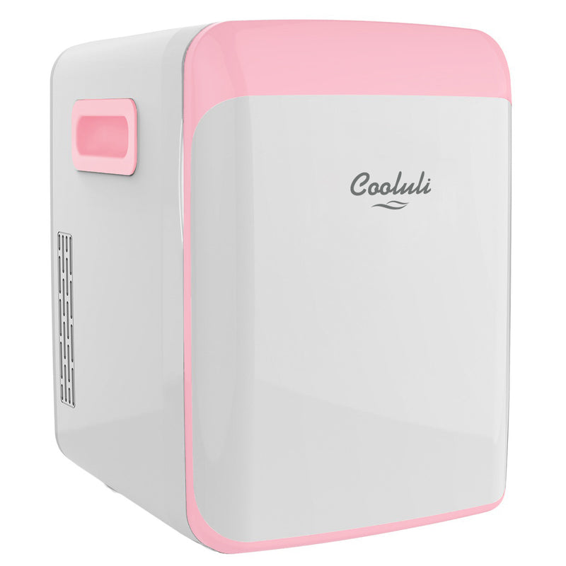 cooluli classic 15 liter pink portable mini fridge