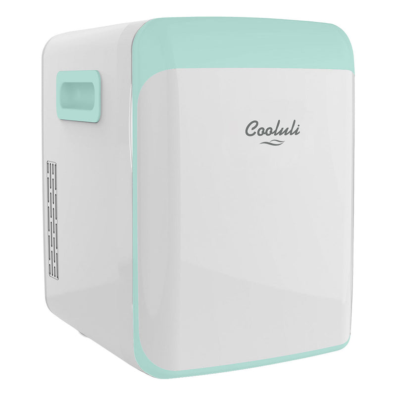 cooluli classic 15 liter teal portable mini fridge