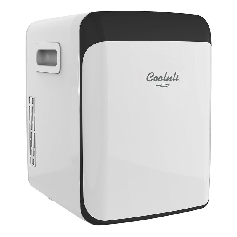 cooluli classic 15 liter white portable mini fridge