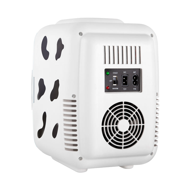 Classic 4 Liter Small Cow Print Mini Fridge Power Cords