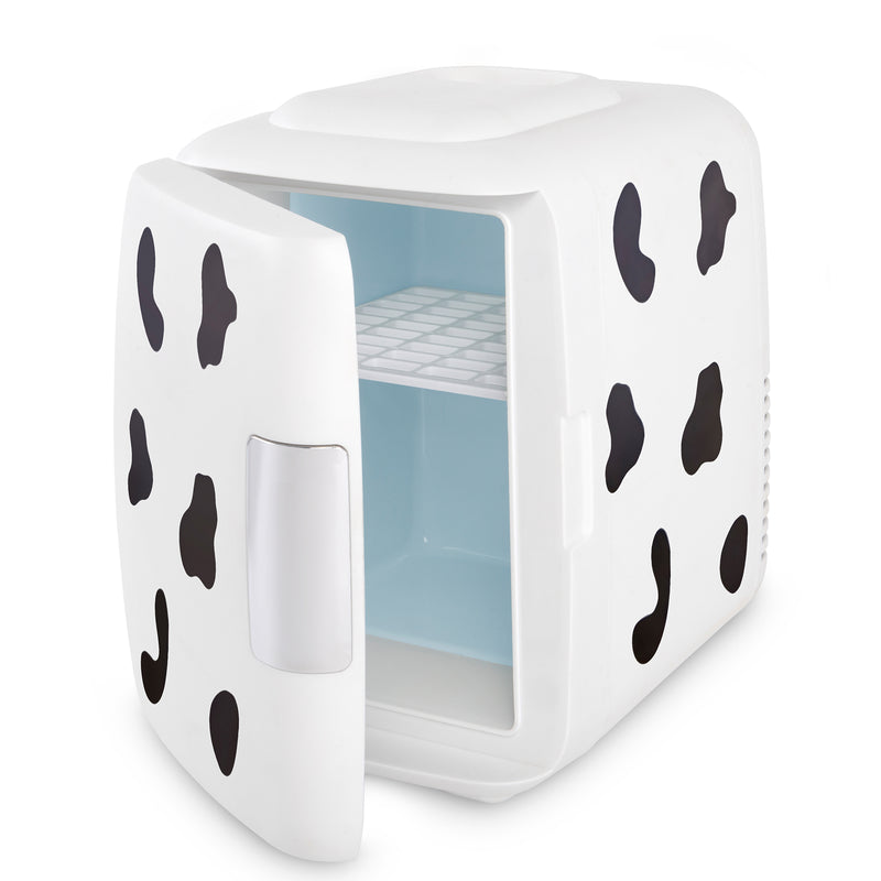 Classic 4 Liter Small Cow Print Mini Fridge Door