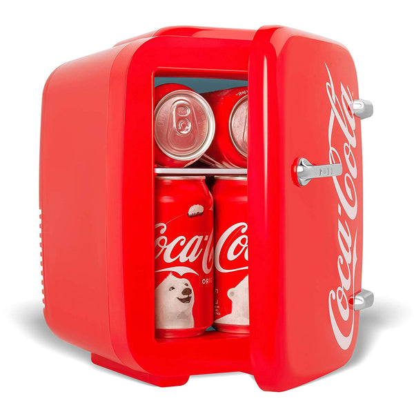 Coca-Cola Vintage Chic 4 Liter Red Mini Fridge for Cans
