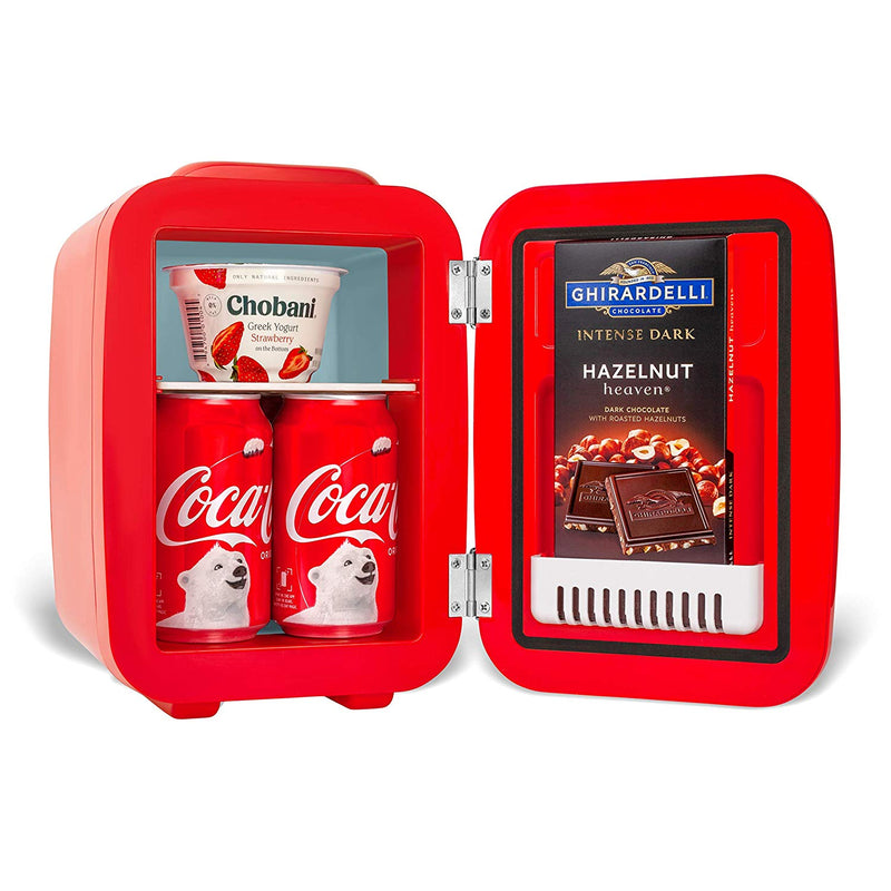 Coca-Cola Vintage Chic 4 Liter Red Mini Fridge for Food