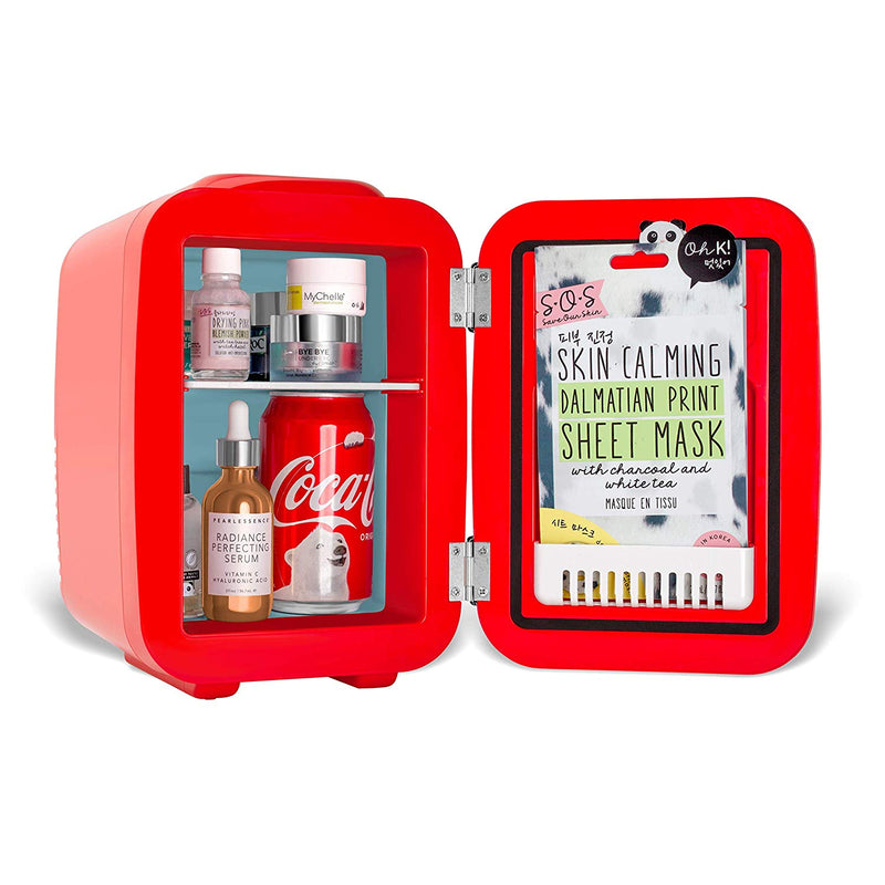 Coca-Cola Vintage Chic 4 Liter Red Skincare Mini Fridge