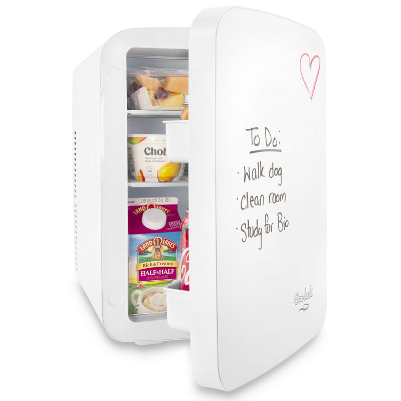 Vibe 15 Liter Dry Erase White Mini Fridge Door