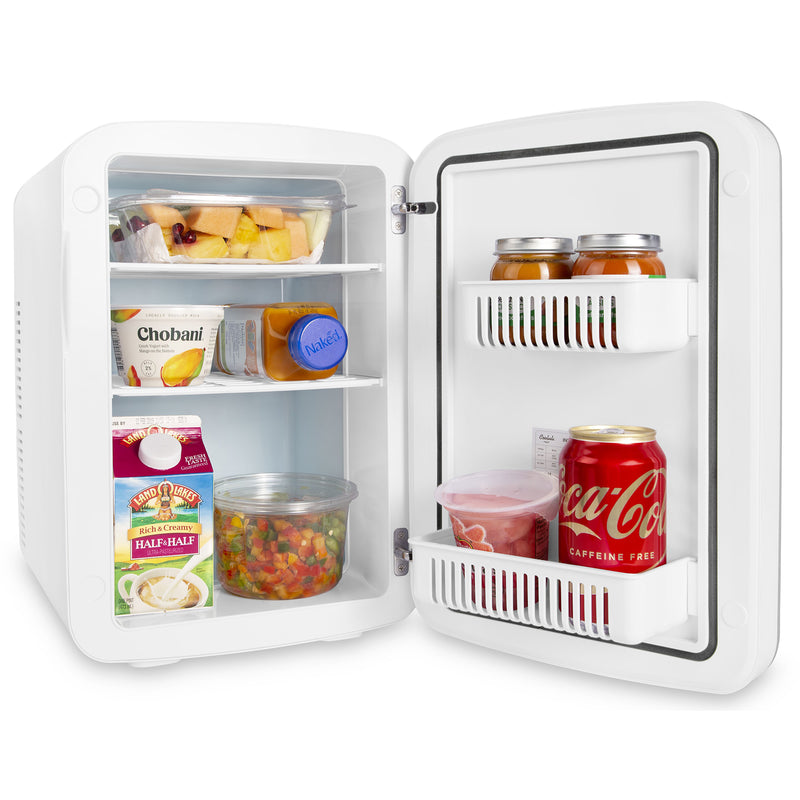 Vibe 15 Liter Dry Erase White Mini Fridge for Food