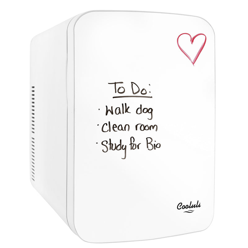 Vibe 15 Liter Dry Erase White Mini Fridge