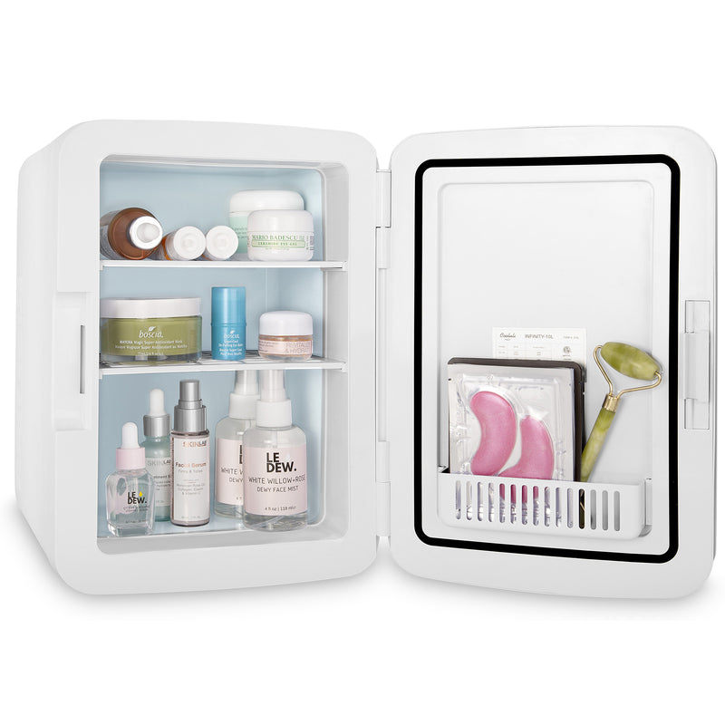 Infinity 10 Liter Portable Pink Skincare Mini Fridge
