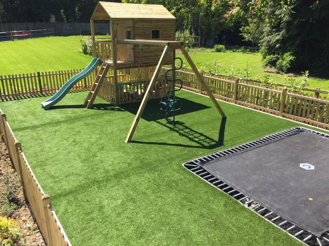 Artificial grass installation in garden playground, Artificial Grass Canterbury, Artificial Grass Kent